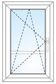 Balkónové dvere otvárateľné/sklopiteľné