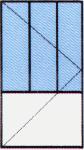 Vch. Dvere jednokrídlové - Delené - So sklom hore 1/3 24 mm (Float, DK číra, Chinchilla)