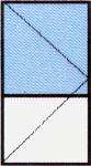 Vch. Dvere jednokrídlové - Delené 2/3 - So sklom 24 mm (Float, DK číra, Chinchilla) / 1/3 PVC