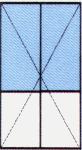 Vch. Dvere dvojkrídlové - Delené 2/3 - So sklom 24 mm (Float, DK číra, Chinchilla) / 1/3 PVC