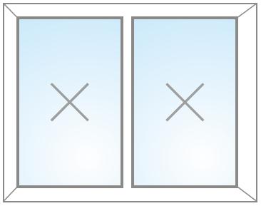 Dvojkrídlový FIX v ráme