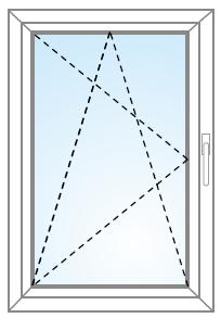 Jednokrídlové otvárateľné a sklopiteľné okno a balkón