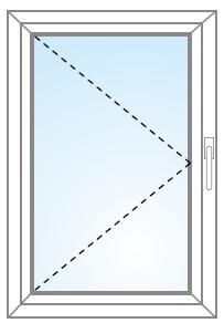 Jednokrídlové otvárateľné okno a balkón