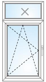 Otvárateľné/sklopiteľné s FIX (v ráme)  nadsvetlíkom
